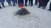 Burning the Yule greens